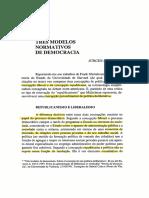 Tres Modelos de Democracia