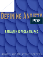 Defining Anxiety