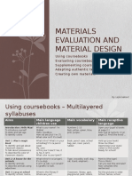 Materials Evolution and Material Design