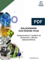 2016 Solucionario Clase Estequiometría II Equilibrio de Ecuaciones y Cálculos Estequiométricos