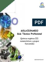 2016 TC Solucionario Guía Clase 21 Química Orgánica III Grupos Funcionales