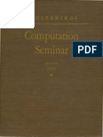 IBM Computation Seminar Aug51