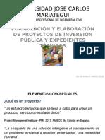 Clase 1 - Aspectos Generales de Un Proyecto de Inversión Pública