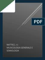 Nattiez, J-J. Musicologia Generale e Semiologia