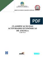IBEP2008-09 Classificacao Actividades Economicas (CAE-Rev.1)
