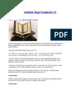 Tips Dari Rasulullah Bagi Penghafal Al Qur