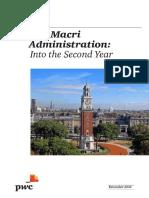 El Gobierno de Macri, Segundo Año