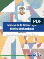 hemorragias uterinas disfuncionales