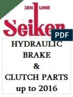 Seiken Hydraulic Brake & Clutch Parts Catalogue Up to 2016