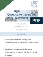 Quantitative Trading and Backtesting