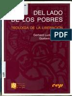 GUTIERREZ, Gustavo y MÜLLER, Gerard Ludwig.  Del lado de los pobres.  Teología de la liberación.