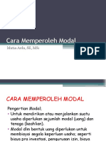 4.Cara Memperoleh Modal