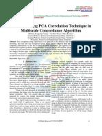 Dedeblur Using PCA Correlation Technique in Multiscale Concordance Algorithm