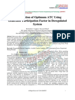Computation of Optimum ATC Using Generator Participation Factor in Deregulated System
