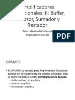 11 OPAMPS Sumador y Restador