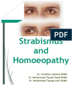 Strabismus and Homoeopathy