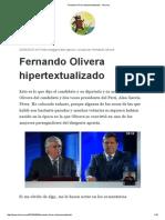 Fernando Olivera Hipertextualizado - Por El Morsa