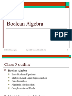 Lect 5 - Boolean Algebra