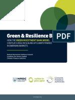 Green Investment Bank Model Emerging Markets