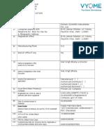 Vendor Registration Form vyome Bioscience