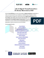 Time Signals & Signal Transformation - GATE Study Material in PDF