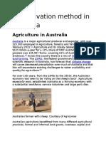 Cultivation Method in Australia