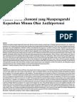 Faktor Sosio Ekonomi Yang Mempengaruhi Kepatuhan Berobat Pasien Hipertensi