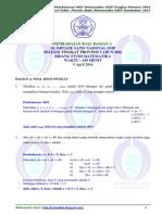 Soal Dan Pembahasan OSN Matematika SMP Provinsi 2016 (Bagian a)-Www.m2suidhat.blogspot.com