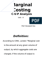 Marginal Costing (CVP Analysis) Unit II