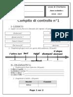 Compito di controllo n° 1 (16-17)