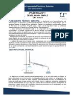Practica 1- Destilacion Simple Del Agua