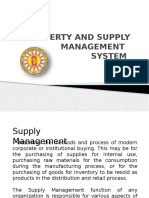 Property and Supply Management System