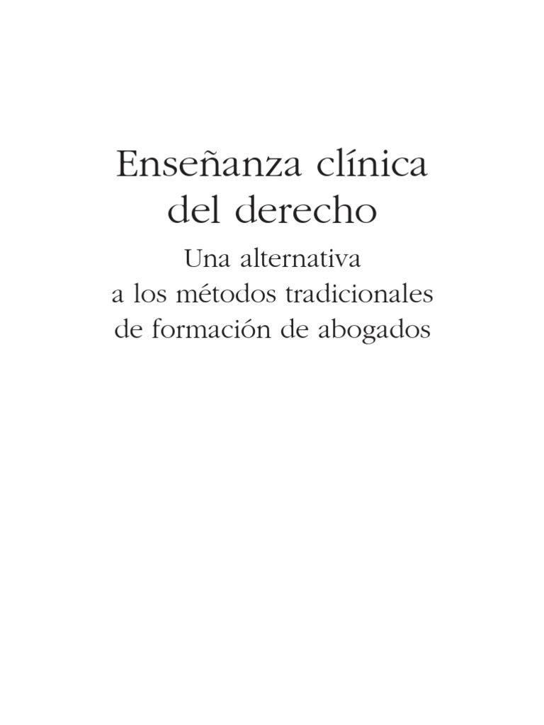 Ensenanza Clinica Del Derecho