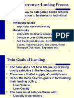 Types of Borrowers-Lending Process