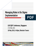Managing Risks in Six Sigma Implementation