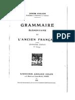 Grammaire Élémentaire de l'Ancien Français