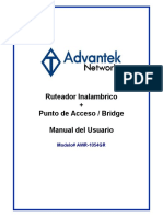 Manual Router Advantek