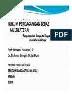Hk 638 Slide Hukum Perdagangan Bebas Multilateral - Penyelesaian Sengketa Dagang Melalui Arbitrase