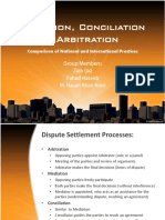 Mediation, Conciliation & Arbitration
