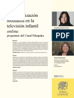 La alfabetización mediática en la televisión infantil