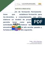 OBJETIVO COORDINACION DE FORMACIÓN