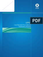 Low Exercise Price Options Explanatory Booklet
