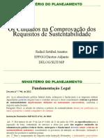 3 Os Cuidados Na Comprovacao Dos Requisitos de Sustentabilidade