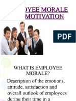 Employee Morale and Motivation
