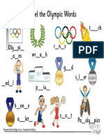 Label the Olympic Words Missing Letters