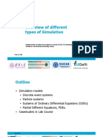 Overview of different types of simulation