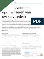 Tien tips voor het optimaliseren van uw servicedesk