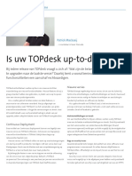 Is uw TOPdesk up-to-date?