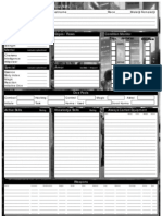 Shadowrun Third Edition 3 Epic Character Sheet