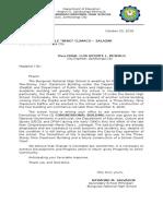 Letter to Mayor for Demolition